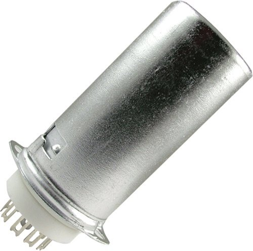 Vacuum Tube Socket, 9 Pin / Miniature, Ceramic, Top Chassis Mount, w/ Aluminum Tube Shield