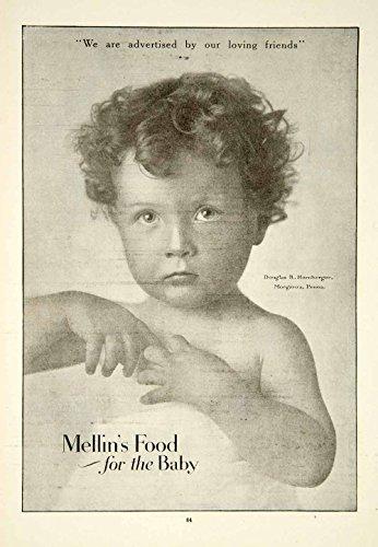 1920 Ad Mellins Baby Food Douglas R Hornberger Morganza Vintage Infant Baby Yrr2 - Original Print Ad
