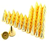 100 x 9.5mm Metal Bullet Stud Rivet Spikes for Leather Craft Cloth Golden
