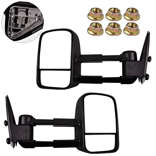 Great Deal! YITAMOTOR Pair Towing Manual Telescopic Tow Side Mirrors for 99-07 Silverado Sierra Taho...