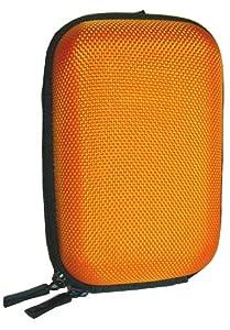Hartschalentasche in orange und Display Schutzfolie für Pentax Optio RZ18 - NEUE MAßE AB 01.11.2013