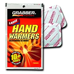 Grabber Large Hand Warmers - 10 Hour Plus - Box of 40 Pair by GRABBER WARMERS