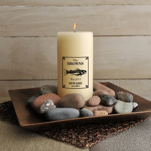 Jds Personalized Trout Cabin Candle