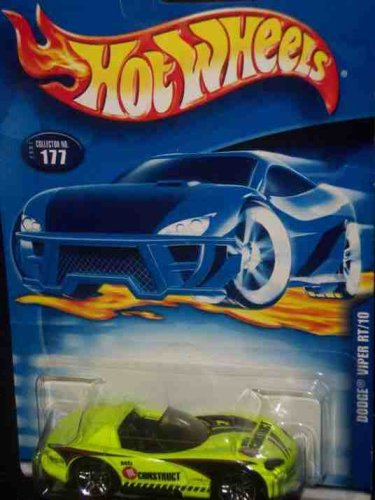 #2001-177 Dodge Viper RT/10 Collectible Collector Car Mattel Hot Wheels 1:64 Scale - 1