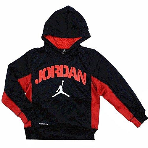 Jordan Flight Pullover Therma Fit Boys'youth Hoodie (Black/Red, L(12-13YRS))
