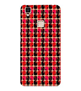 EPICCASE heart blocks Mobile Back Case Cover For VIVO V3 (Designer Case)