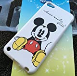 MobileCentral (Tm) iPod Touch 5 or 6 ; Red Classic Mickey Mouse Disney TPU Silicone Fitted Rubber Gel Case Cover for iPod 5th & 6th Generation