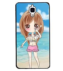 Printvisa Sweet Gir Lon A Beach Back Case Cover for Xiaomi Redmi Mi4::Xiaomi Mi 4