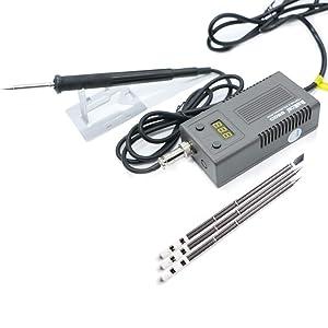 Bakon BK950D Welding Solder Soldering Iron 220/110 50W Internal Heating Type Welding Tool Trinity Digital Display And T13 Heater C (Color: C)