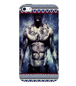 PrintDhaba Tatto D-3623 Back Case Cover for APPLE IPHONE 4 (Multi-Coloured)
