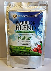 Sunwarrior Warrior Blend Raw Vegan Protein, Natural 2.2 lbs