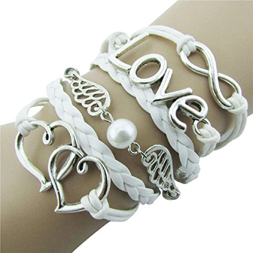 Susenstone®Style Jewelry fashion Leather Cute Infinity Charm Bracelet