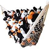 Stuffed Animal Hammock Comes with FREE Plush Penguin Deluxe Toy Hammock Set for Organizing Your Childs Plush Toys EpicKids White