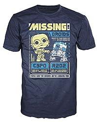 Funko Men's Pop! T-Shirts: Star Wars - C3po R2d2 Poster, Navy, X-Small