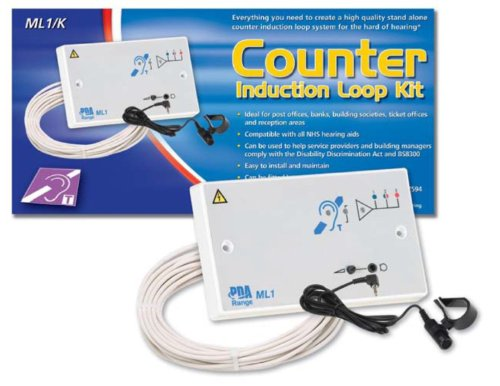 Tc196- Sml1/K Double Gang Fixed Counter Induction Loop Amplifier Kit