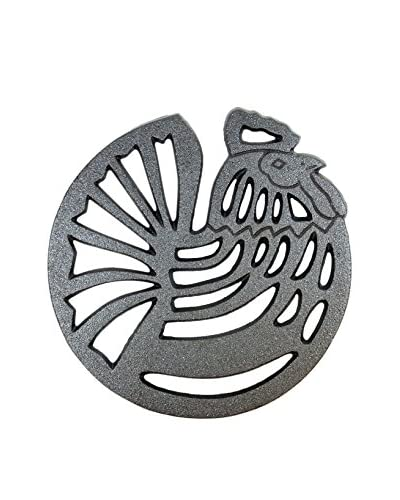 Old Mountain Rooster Trivet, Black