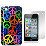 HM Peace Sign Design Crystal Hard Skin Case Cover for Apple Ipod Touch iTouch 4th Generation 4g 4 8gb 32gb 64gb New By Electromaster