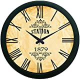MeSleep Station Vintage Wall Clock (With Glass)