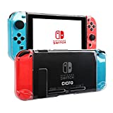 Nintendo Switch Case,CICFO Protective Crystal Hard Back Clear Cover with Shock-Absorption and Anti-Scratch Design for Nintendo Switch