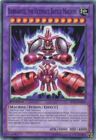 Yu-Gi-Oh! - Barbaroid, the Ultimate Battle Machine (SP13-EN045) - Star Pack 2013 - Unlimited Edition - Common (Battle Machines compare prices)