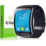 IQ Shield LiQuidSkin (6-PACK) - Samsung Gear S Screen Protector with Lifetime Replacement Warranty - High Definition (HD) Ultra Clear Smart Film - Premium Protective Screen Guard - Extremely Smooth / Self-Healing / Bubble-Free Shield - Kit comes in Frustration-Free Retail Packaging
