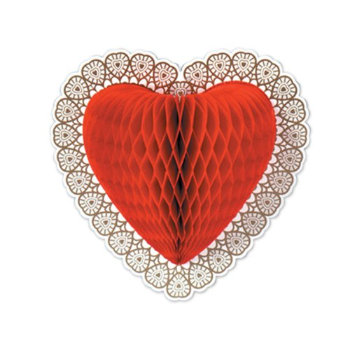 Tissue Heart Decoration Party Accessory (1 count) (1/Pkg)