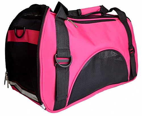 Kenox Soft Sided Dog Carrier Pet Travel Portable Bag Home for Dogs, Cats and Puppies (Medium, Rosered)