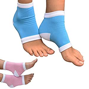 Medipaq® Gel Heel Protection Socks - Relieves Pain by Reducing Friction Over the Heel - CHOOSE YOUR COLOUR. (1 x Pair BLUE)