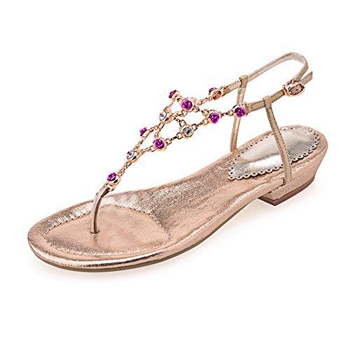 adee-girls-ruched-buckle-gold-polyurethane-sandals-3-uk