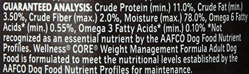 Wellness CORE Grain Free Weight Management Natural Wet Canned Dog Food, 12.5-Ounce Can (Pack of 12)_Image1