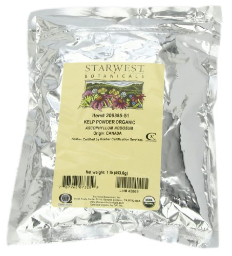 Starwest Botanicals Organic Kelp Power, 1-Pound Bags (Pack Of 3)