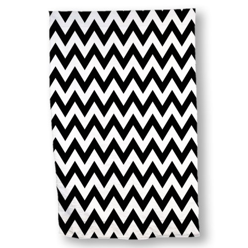 Black And White Chevron Hand Towels: Chevron Bathroom Decor