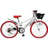 (ディーパー)DEEPER 24インチ 子供用自転車 DE-24 6段変速 シマノCIデッキ・バスケット・ライト・カギ標準装備