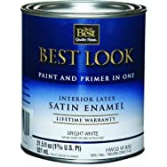 - HW33W0826-14 Best Look Interior Latex Satin Paint And Primer In One Wall And Trim Enamel
