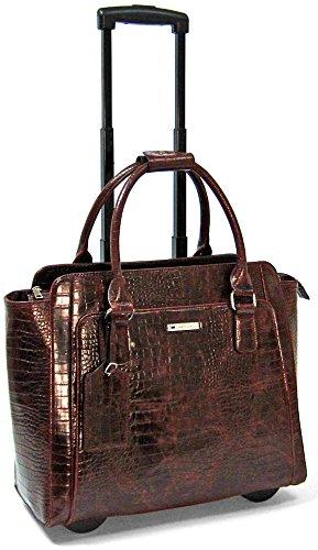 cabrelli-empire-croco-156-laptop-rollerbrief-brown