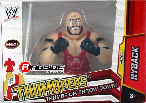 RYBACK - WWE THUMBPERS SERIES 1 WICKED COOL TOYS WWE TOY WRESTLING ACTION FIGURE (Wrestling Belt Display Case compare prices)
