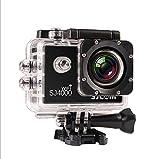 SJCAM正規品」SJ4000 Wi-Fi スポーツカメラ WiFi搭載 30m防水 170度広角レンズ  1080P 液晶画面 HD動画対応 ハルメット式 バイクや自転車、カートや車に取り付け可能 (ブラック)