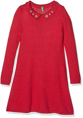 benetton-12dmf1259-vestito-bambina-rosso-8-9-anni-taglia-produttore-l