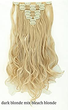 syalex (TM) Prix usine 43,2cm 43cm long 8extension de cheveux tête complète en cheveux synthétiques 100% naturel véritable Extensions Royaume-Uni Livraison Rapide