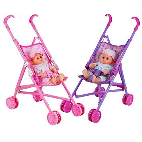 Vktech Faltbar Babywagen mit Puppe faltbar Puppenwagen