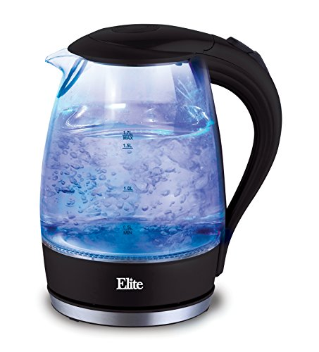 Elite Platinum EKT-300 Maxi-Matic 1.7 L Cordless Glass Kettle, Black (Cordless Juicer compare prices)