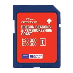 Satmap National Park 1:25000/1:50000 Brecon Beacons & Pembroke Coast