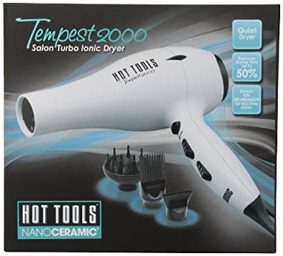 Hot Tools HTBW04 Tempest 2000 Turbo Ionic Dryer, Black/White