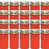 Grablichter 20er Karton rot mit Deckel