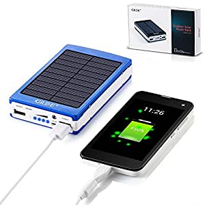 Amazon Com 10000mah Solar Charger Portable Dual Usb