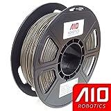 AIO Robotics AIOGRAY PLA 3D Printer Filament, 0.5 kg Spool, Dimensional Accuracy +/- 0.02 mm, 1.75 mm, Gray