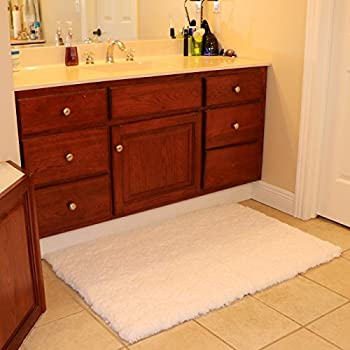 Bath Mat Bathroom Rug Non-slip Soft Microfiber Shower Rugs 31x 47 inch for Bathroom Bedroom Living Room Kmat