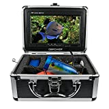 """7"""" Color LCD 600tvl Waterproof 15m Cable 4000mah Rechargeable Battery Fish Finder Underwater Fishing Video Camera with Carry Case"""