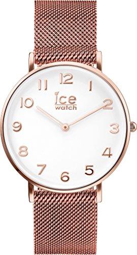 ICE-Watch - 012711 - City Milanese - Montre Mixte - Cadran Blanc - Bracelet Acier Rose - Small - 2H