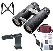 Vanguard ED 1042 Endeavor 10x42 Binocular (Black) + Vanguard Harness + Vanguard CK6N1 6-In-1 Cleaning Kit + Vanguard BA-185 Tripod Adaptor + LowePro Bag